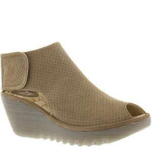 Fly London Yahl Perforated Slingback Wedge, 37